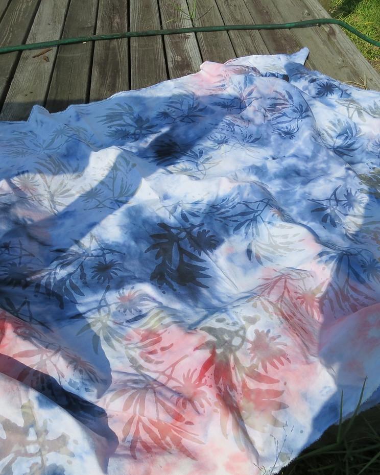 closeup of the batiked fabric